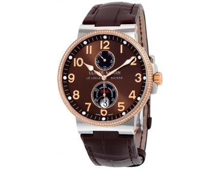 Ulysse Nardin Marine Chronometer Dial Diamond Automatic 265-66-BROWN
